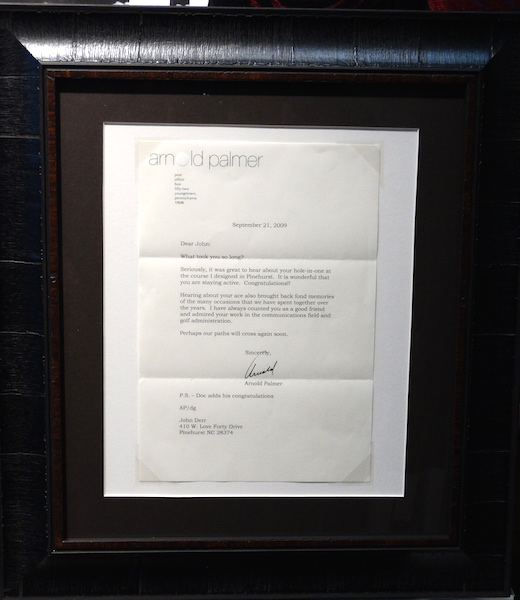 Lot Detail - HAND SIGNED BY ARNOLD PALMER LETTER IN 2009 ...