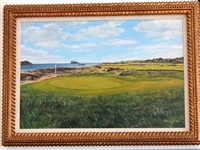 ORIGINAL PAINTING OF NORTH BERWICK IN U.K. BY RICHARD CHORLEY