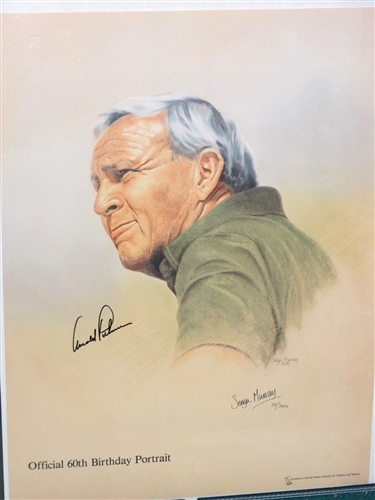 ARNOLD PALMER SIGNED OFFICIAL 60TH BIRTHDAY PORTRAIT, LIMITED EDITION #75 OUT OF 266