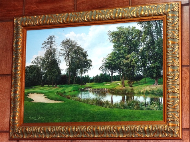 RICHARD CHORLEY ORIGINAL OIL PAINTING OF THE BELFRY
