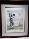"SIGNED BY PAYNE STEWART LITHOGRAPH OF HARBOR TOWN, HILTON HEAD. SIZE 26"" X 34"""