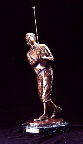 WALTER HAGEN BRONZE STATUE BY KARL FARRIS FROM BEN WRIGHT COLLECTION