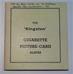 """KINGSTON"" CIGARETTE PICTURE CARD ALBUM, SERIES OF 55, FEBRUARY 1934"