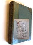 1875 GOLF: A ROYAL AND ANCIENT GAME BY RR CLARK - SIGNED AND DATED LETTER BY ROBERT CLARK