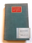 "FRANCIS OUIMET SIGNED LTD EDITION ""A GAME OF GOLF"" 1932 BOOK #164"