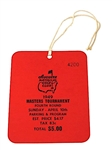 1949 MASTERS TOURNAMENT SERIES BADGE TICKET, MINT CONDITION. SAM SNEADS FIRST MASTERS WIN