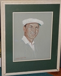 "BEN HOGANS ORIGINAL PORTRAIT BY W. H. ""ANDY"" ANDERSON, DATED 1978."