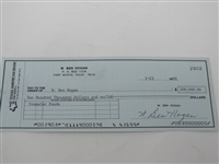 SIGNED BEN HOGANS PERSONAL CHECK FOR 200,000