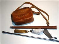 GOLF CLUB USABLE IN A POUCH. VERY RARE PROTOTYPE
