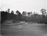 EARLY ICONIC PHOTOGRAPH OF THE 12TH HOLE AT AUGUSTA NATIONAL GOLF CLUB, CIRCA 1930S