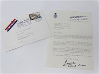 OFFICIAL ROYAL LETTER FROM DUKE OF WINDSOR TO FRED CORCORAN DATED 1966 WITH THE OFFICIAL ENVELOPE