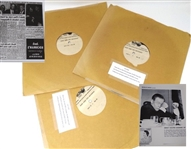 BOBBY JONES LONG LOST SPEECH COMMEMORATING THE 25TH ANNIVERSARY OF HIS GRAND SLAM 3 ACETATE PRESSED DISCS
