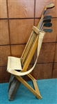 ANTIQUE PATENTED MORELAND WOOD & CANVAS CLUB CARRIER WITH FOLDING CHAIR -EARLY 1900S MORELAND- VERY RARE