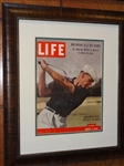 SIGNED BEN HOGAN LIFE MAGAZINE DATED AUGUST 8, 1955- MUSEUM FRAMED