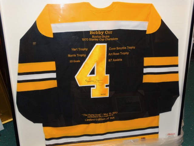 5fc5dc78b BOBBY ORR AUTOGRAPHED HISTORICAL JERSEY WITH CERTIFICATE OF AUTHENTICITY  FROM GREAT NORTH ROAD ...