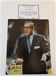 "SIGNED BY JOHN WOODEN UCLA HEAD COACH 8"" X 10"" PHOTO WITH CERTIFICATE OF AUTHENTICITY"