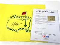 SIGNED BY JACK NICKLAUS UNDATED MASTERS FLAG WITH CERTIFICATE OF AUTHENTICITY
