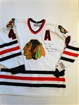 HAND SIGNED BY BOBBY ORR OFFICIAL CHICAGO BLACKHAWKS HOCKEY JERSEY