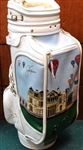 SIGNED JACK NICKLAUS LIMITED EDITION GOLF BAG No. 46 of 50. BELDING EMBROIDERED GOLF BAG, VERY RARE
