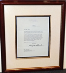HAND SIGNED PERSONAL LETTER FROM PRESIDENT DWIGHT D. EISENHOWER TO CBS BROADCASTER JOHN DERR